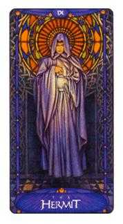 The Wise One Tarot Card - Art Nouveau Tarot Deck