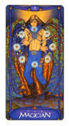 The Magician Tarot card in Art Nouveau deck