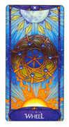 Wheel of Fortune Tarot card in Art Nouveau Tarot deck