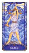 Justice Tarot card in Art Nouveau deck