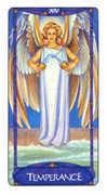 Temperance Tarot card in Art Nouveau Tarot deck
