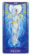 The Moon Tarot card in Art Nouveau deck