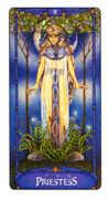 The High Priestess Tarot card in Art Nouveau deck