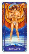 Judgement Tarot card in Art Nouveau Tarot deck