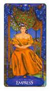 The Empress Tarot card in Art Nouveau deck