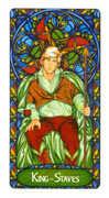 King of Staves Tarot card in Art Nouveau Tarot deck