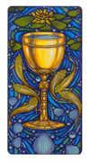 Ace of Cups Tarot card in Art Nouveau deck