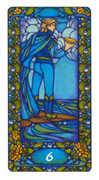 Six of Cups Tarot card in Art Nouveau Tarot deck