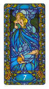 Seven of Cups Tarot card in Art Nouveau deck