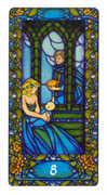 Eight of Cups Tarot card in Art Nouveau Tarot deck