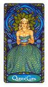 Queen of Cups Tarot card in Art Nouveau deck