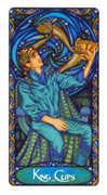 King of Cups Tarot card in Art Nouveau Tarot deck