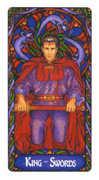 King of Swords Tarot card in Art Nouveau deck