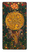 Ace of Coins Tarot card in Art Nouveau deck