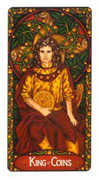 King of Coins Tarot card in Art Nouveau deck