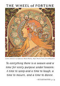 Wheel of Fortune Tarot Card - Art of Life Tarot Deck