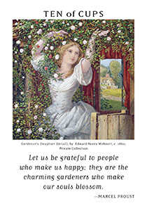 Ten of Hearts Tarot Card - Art of Life Tarot Deck