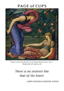 Page of Cauldrons Tarot Card - Art of Life Tarot Deck