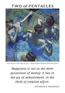Two of Coins Tarot Card - Art of Life Tarot Deck