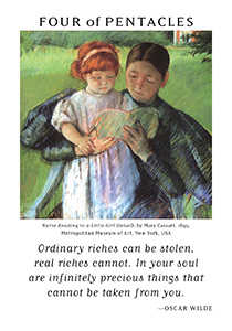 Four of Coins Tarot Card - Art of Life Tarot Deck