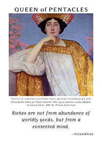 Queen of Discs Tarot Card - Art of Life Tarot Deck