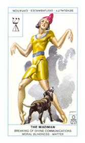 The Fool Tarot Card - Cagliostro Tarot Deck