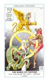 The Wheel of Fortune Tarot Card - Cagliostro Tarot Deck