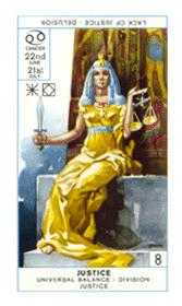 Justice Tarot Card - Cagliostro Tarot Deck