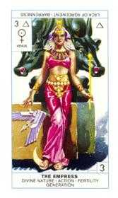 The Empress Tarot Card - Cagliostro Tarot Deck
