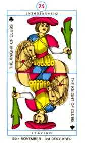 Knight of Staves Tarot Card - Cagliostro Tarot Deck