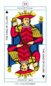 King of Batons Tarot Card - Cagliostro Tarot Deck
