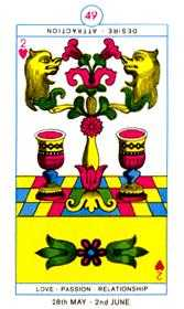 Two of Cups Tarot Card - Cagliostro Tarot Deck