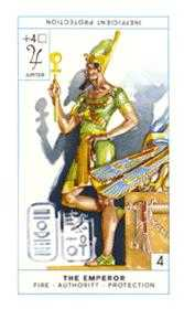 The Emperor Tarot Card - Cagliostro Tarot Deck