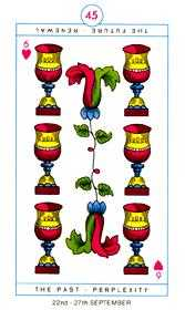 Six of Cups Tarot Card - Cagliostro Tarot Deck