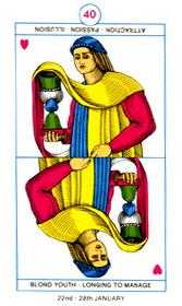 Valet of Cups Tarot Card - Cagliostro Tarot Deck