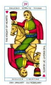 Knight of Hearts Tarot Card - Cagliostro Tarot Deck
