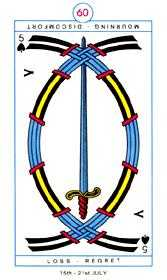 Five of Swords Tarot Card - Cagliostro Tarot Deck
