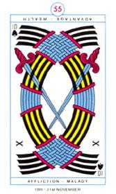 Ten of Spades Tarot Card - Cagliostro Tarot Deck