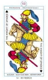 Cavalier of Swords Tarot Card - Cagliostro Tarot Deck