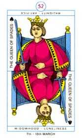 Queen of Swords Tarot Card - Cagliostro Tarot Deck