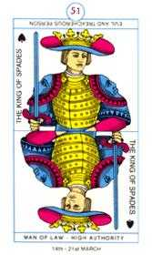King of Swords Tarot Card - Cagliostro Tarot Deck