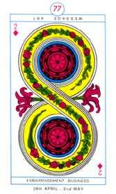 Two of Diamonds Tarot Card - Cagliostro Tarot Deck