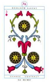 Three of Discs Tarot Card - Cagliostro Tarot Deck