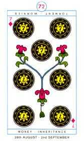 Seven of Pentacles Tarot Card - Cagliostro Tarot Deck