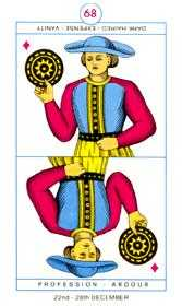 Page of Pentacles Tarot Card - Cagliostro Tarot Deck