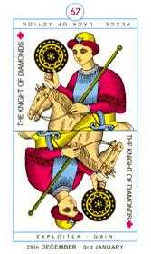 Knight of Coins Tarot Card - Cagliostro Tarot Deck