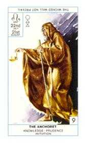 The Hermit Tarot Card - Cagliostro Tarot Deck