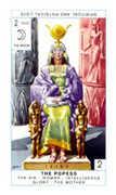 The Popess Tarot card in Cagliostro Tarot deck