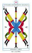 Five of Clubs Tarot card in Cagliostro Tarot deck