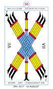 Seven of Clubs Tarot card in Cagliostro Tarot deck